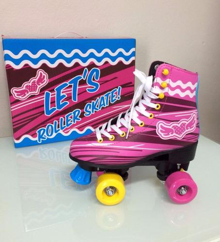 patins sou luna tradicional quad let's skate  4 rodas