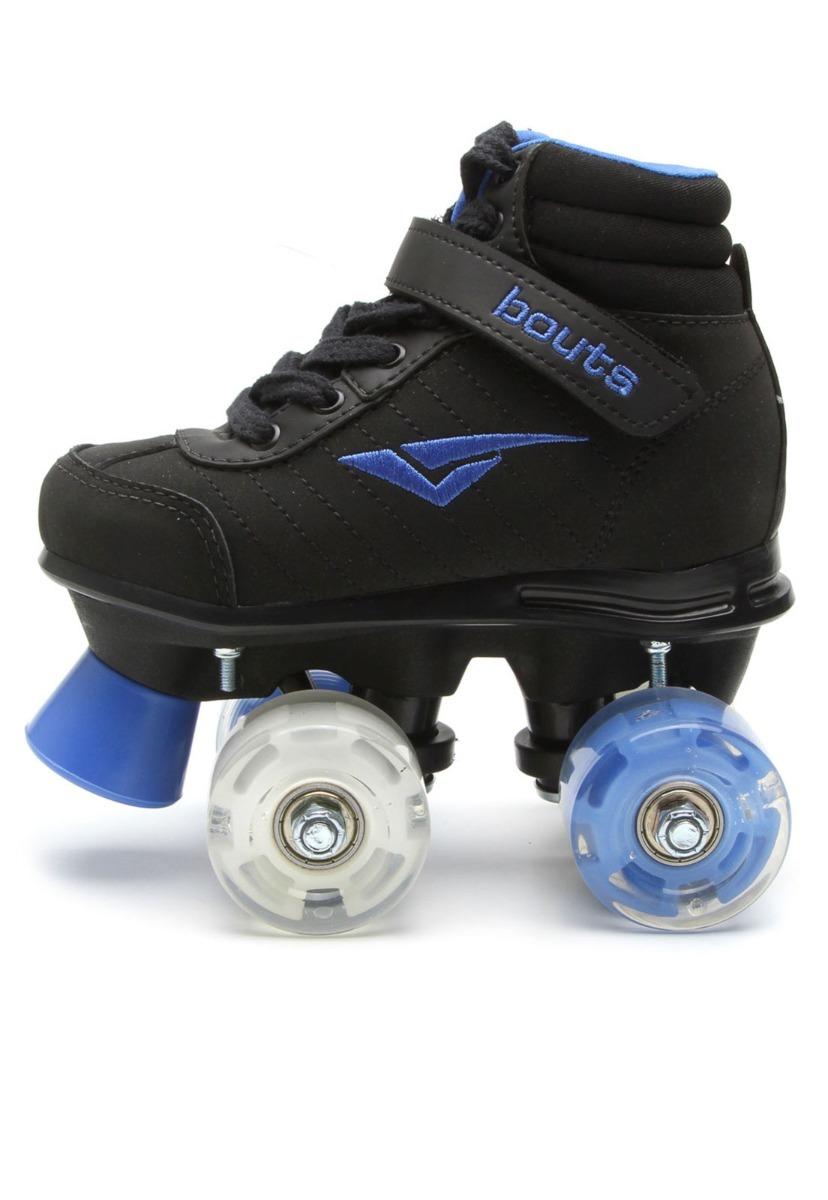 40cf8992cb2 patins tênis bouts skid led preto com rodinhas de led. Carregando zoom.