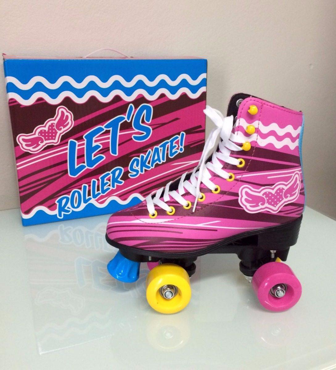 Mercado Livre Tenis >> Patins Tradicional Let's Skate Sou Luna + Kit Proteção - R$ 430,00 em Mercado Livre