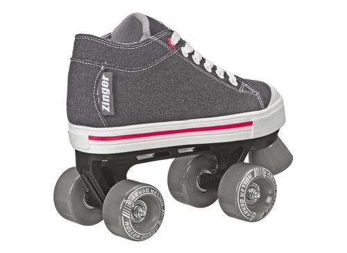 patins tradicional quad infantil roller derby zinger