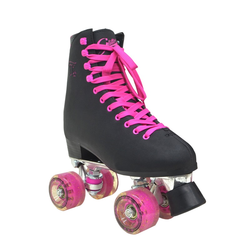 patins traxart glitter quad tradicional preto + ecobag. Carregando zoom. c72a8715b53