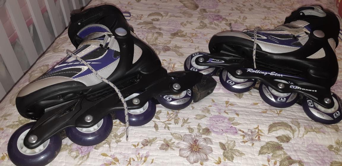 929175ae6dede patins traxart rolling star cinza lilas numero 35. Carregando zoom.