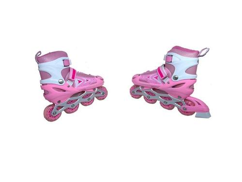 patinsroller in line com led nas rodas-regulavel do 34 ao 37
