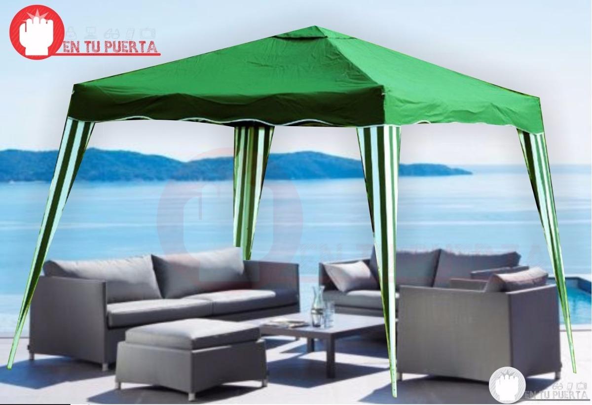 Patio jardin mesas sombrilla carpa aire libre bazar fiesta - Carpas para patios ...
