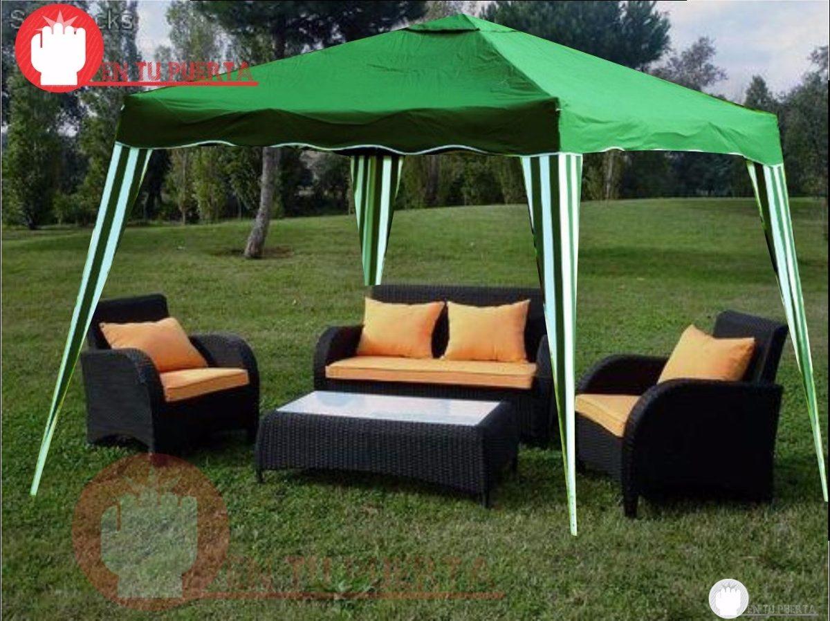 Patio jardin mesas sombrilla carpa aire libre bazar fiesta for Carpas para jardin carrefour