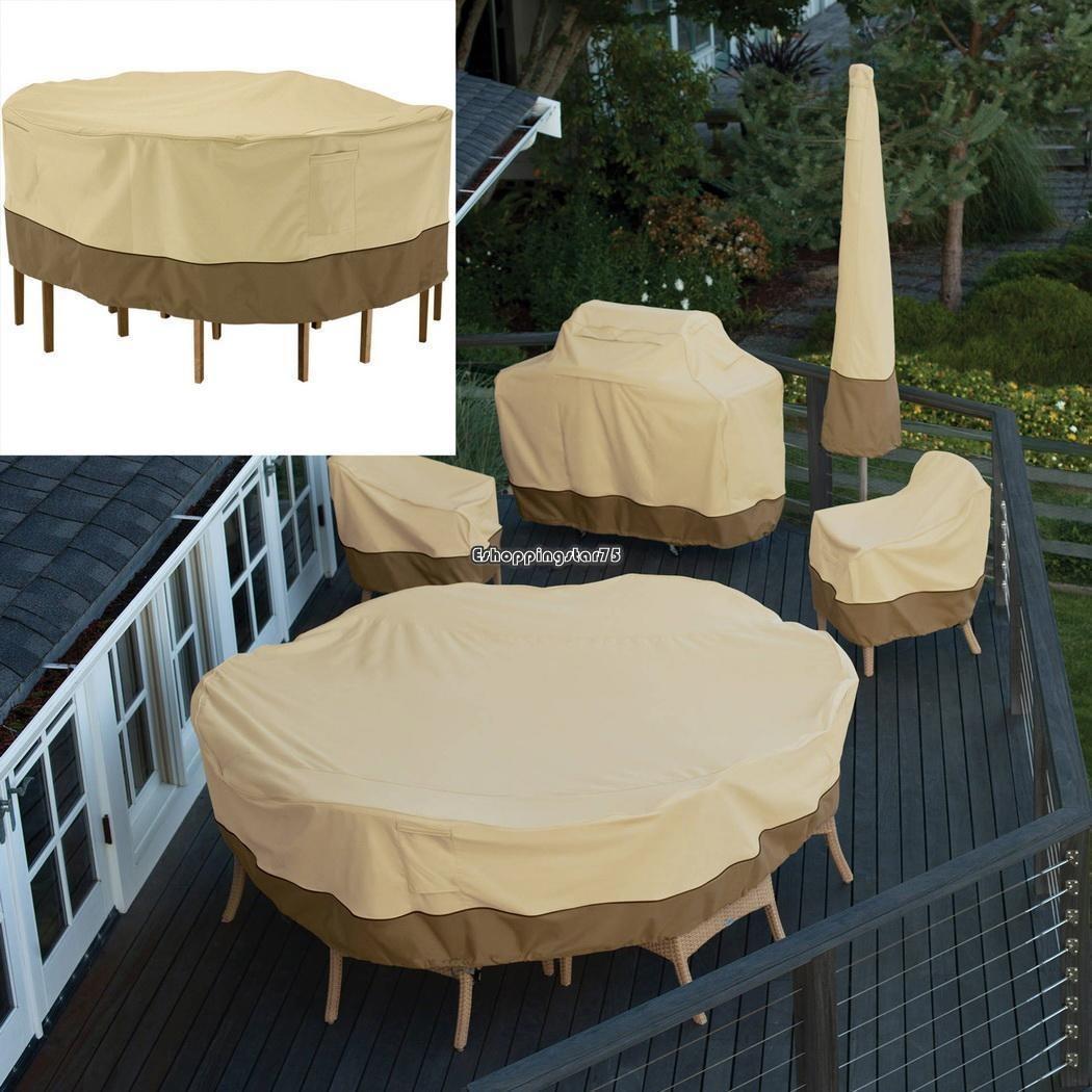Moderno Redondas Cubiertas De Los Muebles Al Aire Libre Galería ...
