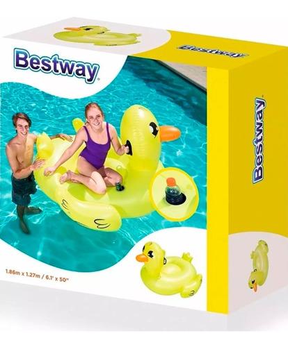 pato grande inflable flotador pileta bestway 41106 full