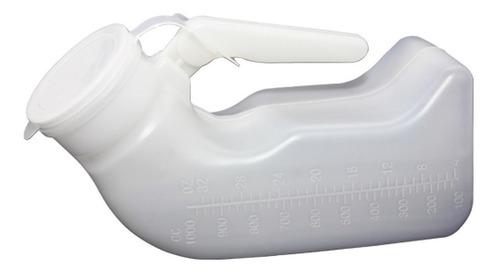 pato urinario plastico masculino con tapa - cranberry