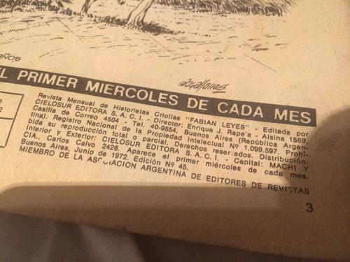 patoruzú + fabian leyes año 1974 y 1972