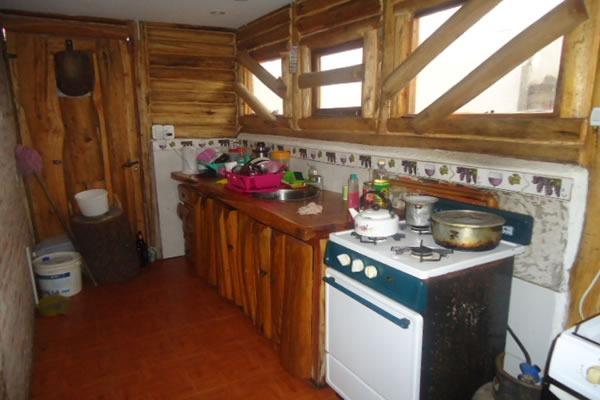 patri cabaña de tronco en 2 plantas parrilla cubierta