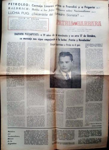 patria barbara año 1 n°2 nov 1964 8p buen estado algo de hum