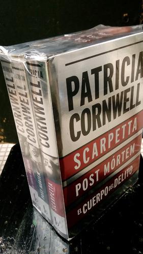 patricia cornwell pack 3 libros + lampara de lectura