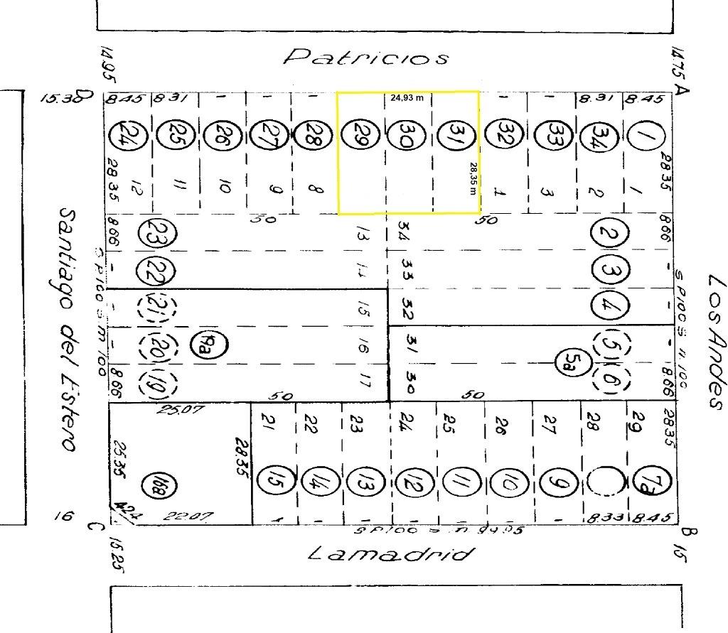 patricios 200 - ingeniero maschwitz - terrenos/fracciones/loteos terrenos - venta