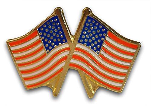patriótica cruzó la bandera americana 5-piece solapa o el