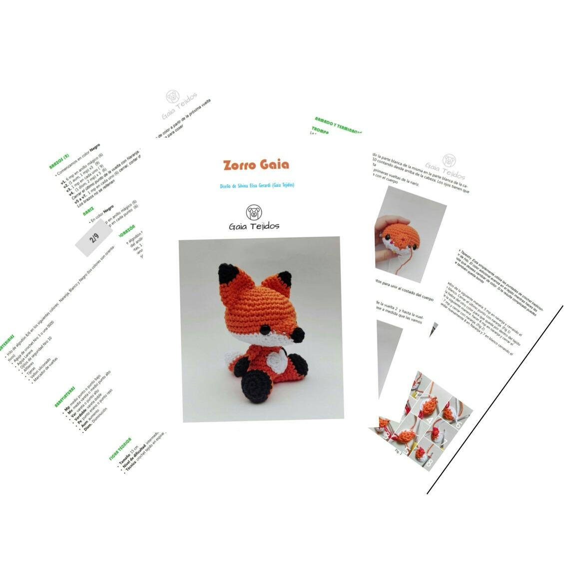 Patrón Amigurumi Crochet Zorro En Pdf - $ 100,00 en Mercado Libre