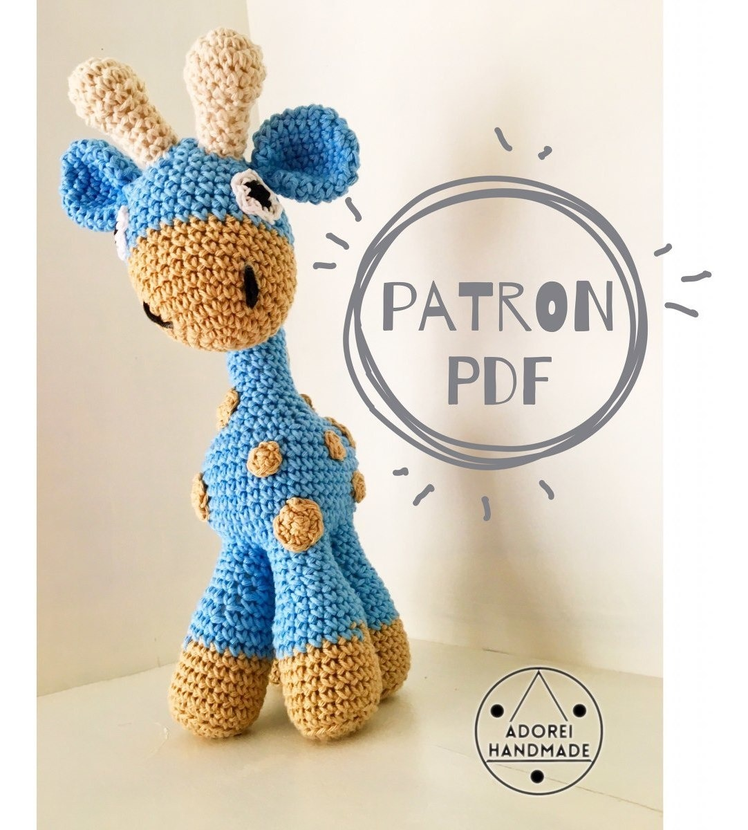 Amigurumi Crochet Pattern - Stanley the Giraffe (con imágenes ...   1200x1082
