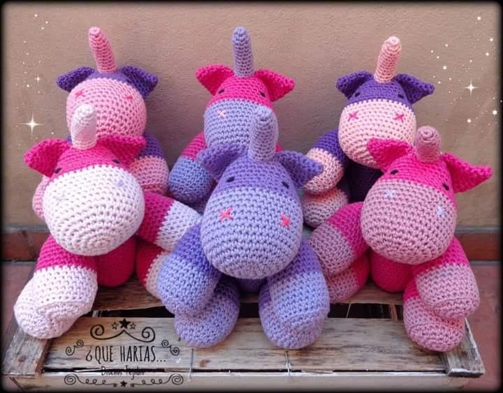 Patrón Crochet Amigurumi Unicornios 2x1 Inglés - $ 40,00 en ... | 563x720