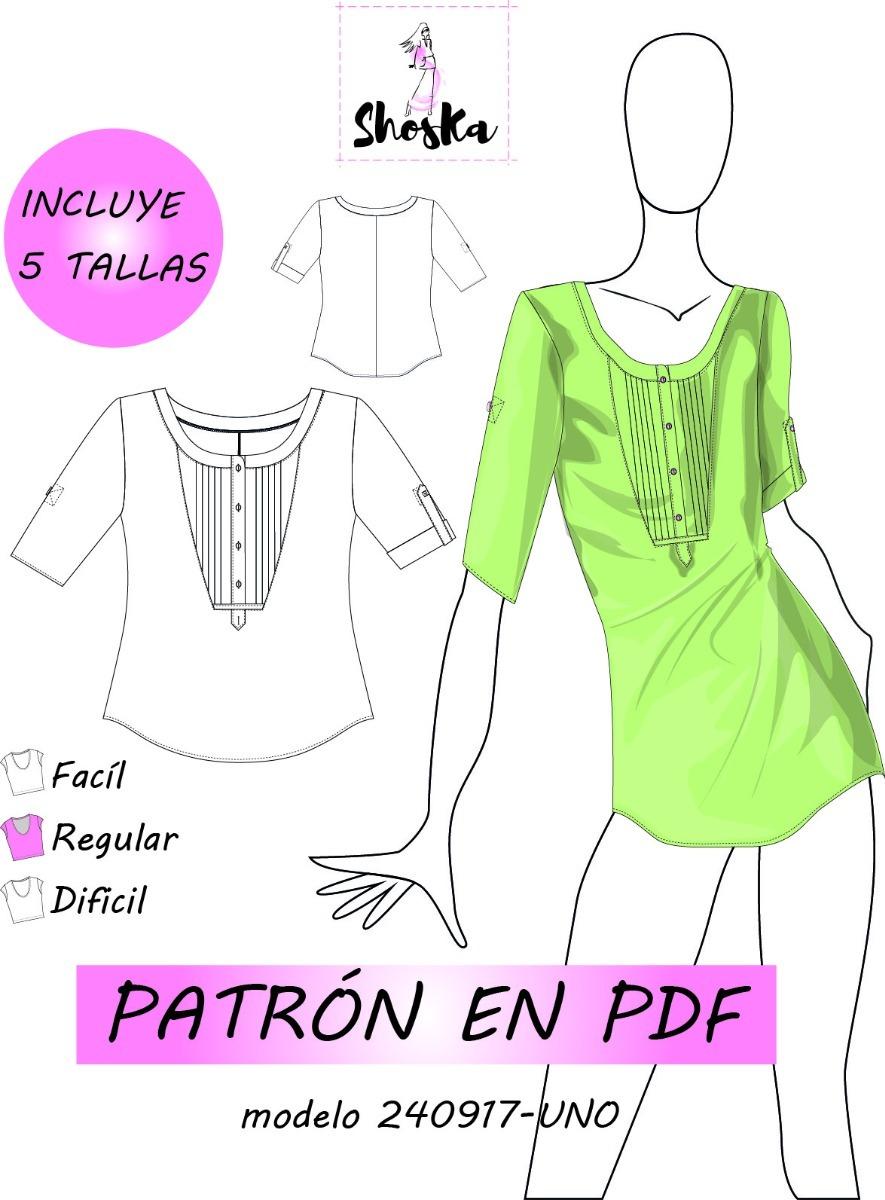 Patrón Blusa De Dama, Guía Incluida. - $ 99.90 en Mercado Libre