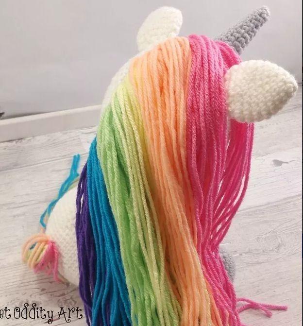 Resultado de imagen de unicornio amigurumi patrones | Unicornio ... | 671x624