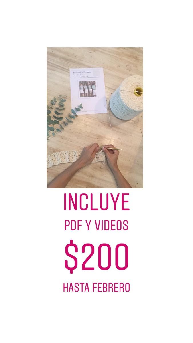 Patron Crochet Para Tejer Remertia Prunus - $ 200 en Mercado Libre