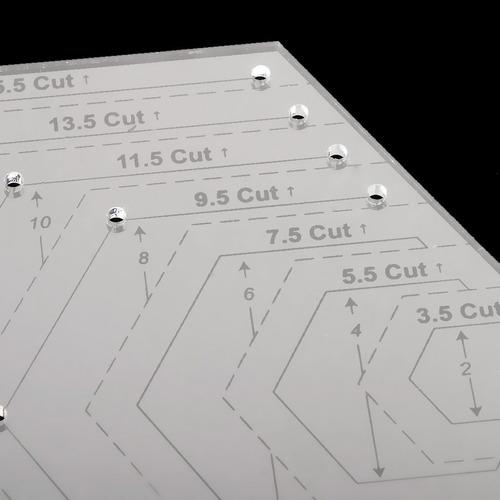 patrón de acolchado acolchado costura plantilla de