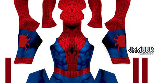 patrón de amazing spiderman v1 para sublimar cosplay