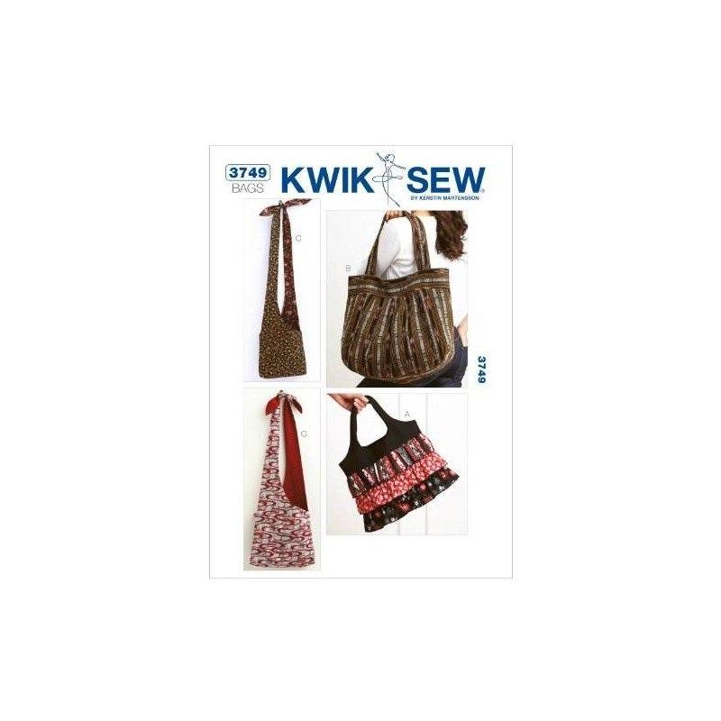 Patrón De Costura De Bolsos Kwik Sew K3749, Sin Talla - $ 96.517 en ...