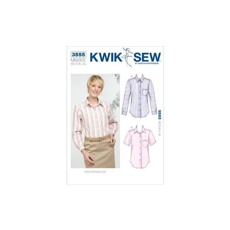Patrón De Costura De Las Camisas Kwik Sew K3555, Talla Xs-s ...
