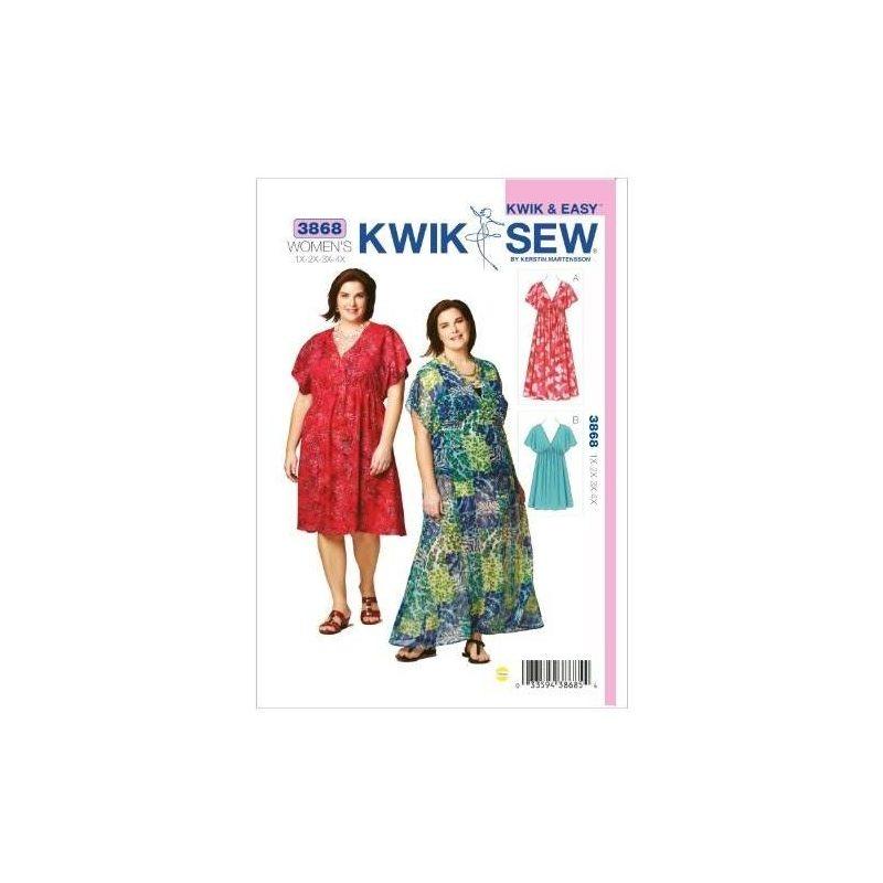Patrón De Costura De Vestidos Kwik Sew K3868, Talla 1x-2x-3x ...