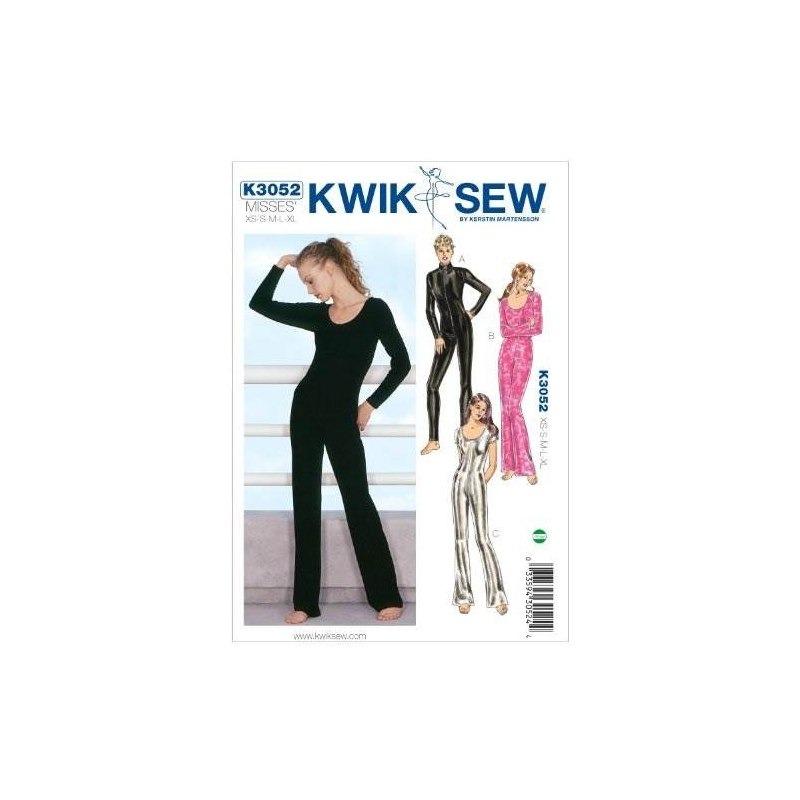 Patrón De Costura Kwik Sew K3052 Unitards, Talla Xs-s-m-l-xl ...