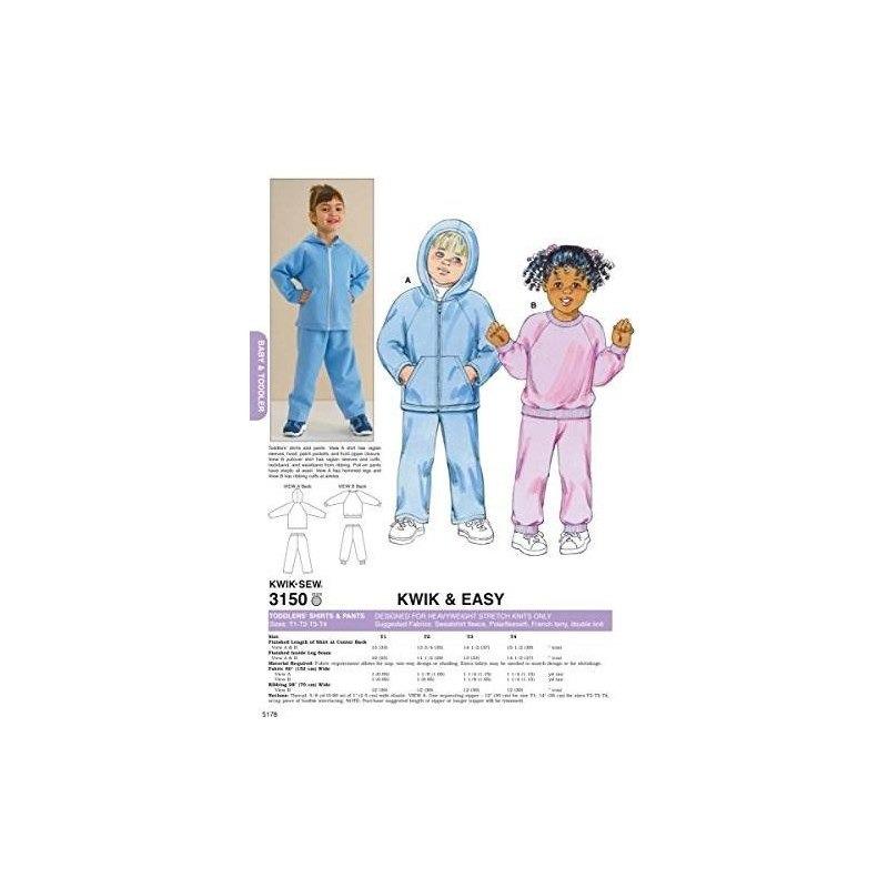 Patrón De Costura Kwik Sew K3150 Para Camisas Y Pantalones ...