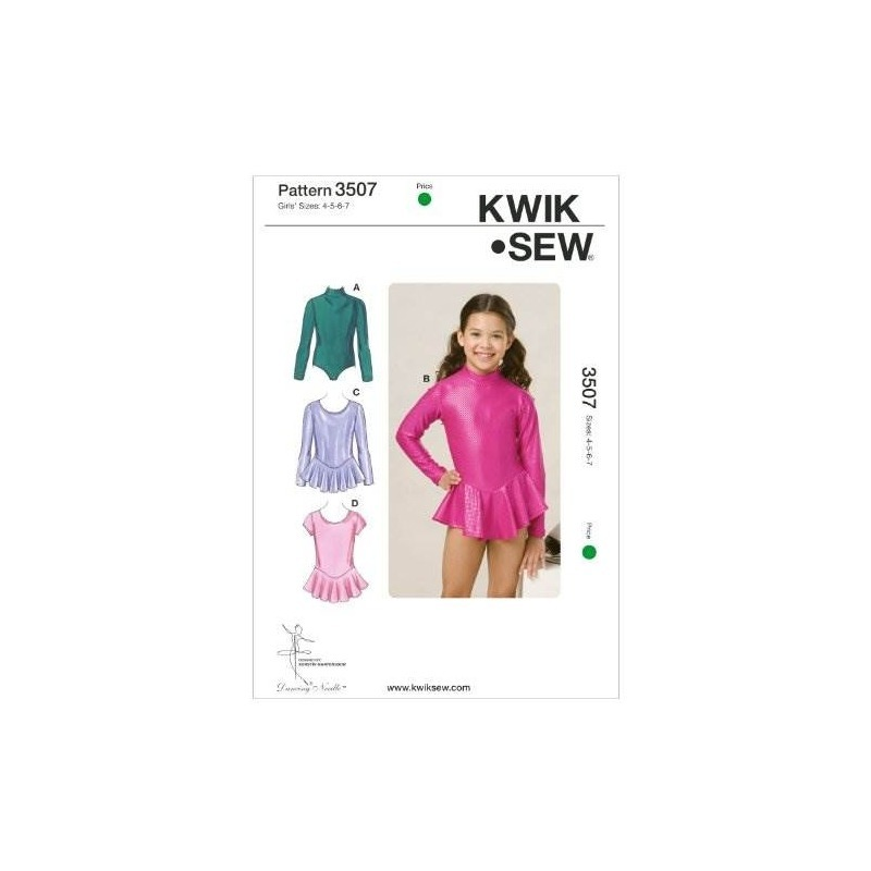 Patrón De Costura Kwik Sew K3507 Leotardos, Talla 4-5-6-7 - $ 95.619 ...