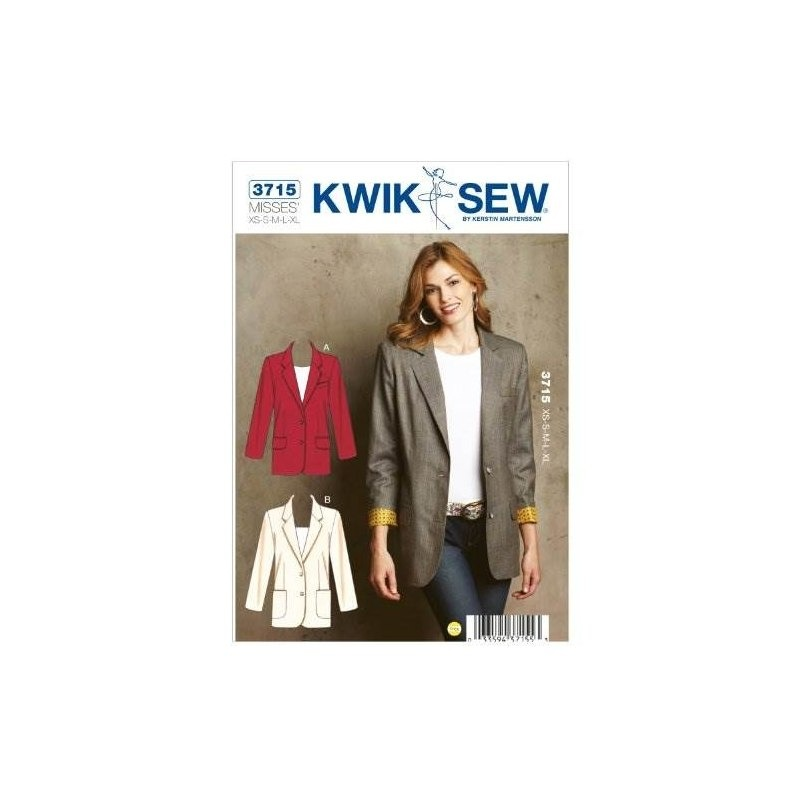 Patrón De Costura Kwik Sew K3715 Blazers, Talla Xs-s-m-l-xl ...