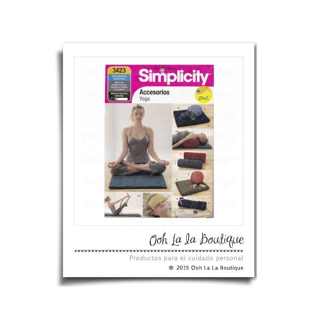 Patrón De Costura Simplicity 3423 Accesorios De Yoga #0691 - $ 85.00 ...