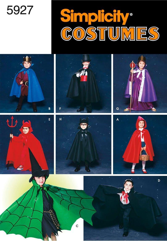 Patrón De Costura Simplicity 5927 Disfraces De Niños, A (s-m ...