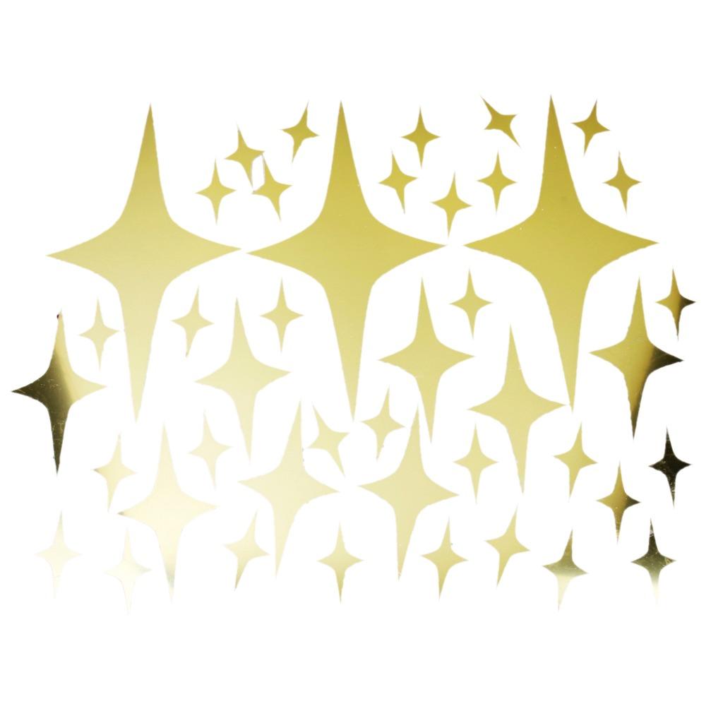 Patrón De Estrellas Espejo De Estilo Calcomanía De Arte Mu ...