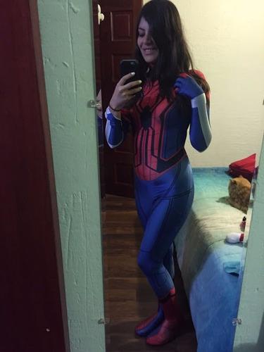 patrón de spidergirl spiderwoman homecoming para sublimar