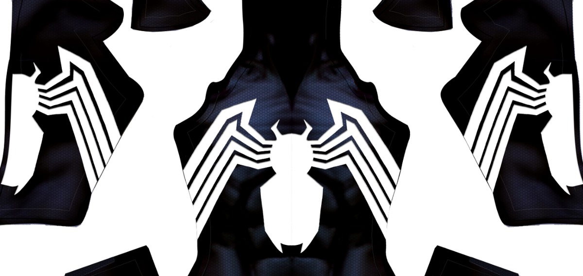 Patrón De Spiderman Simbionte Traje Negro Sublimar Cosplay ...