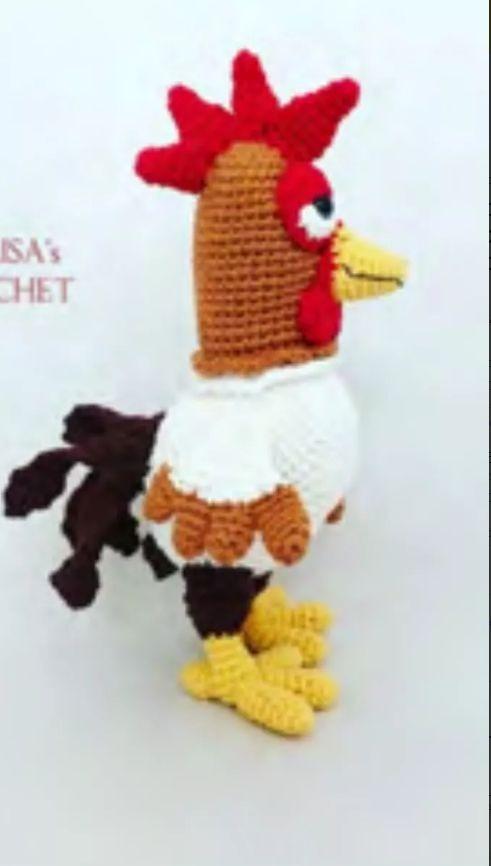 Patrón Gallo Bartolito Crochet Amigurumis Idioma Inglés + 1 - $ 40 ...