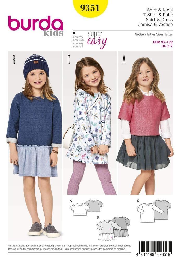 Patron Individual De Costura, Marca Burda Style, Niños, Para