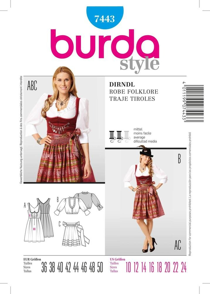 Patron Individual De Costura, Marca Burda Style, Para Realiz ...
