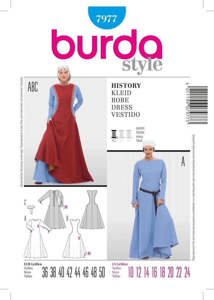 Patron Individual De Costura, Marca Burda Style,trajes De Ép ...