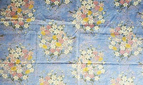 patrón japonés kimono azul río de dulce flor en la hermos
