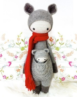 RADA the rat, mouse • lalylala crochet pattern / amigurumi ... | 400x320