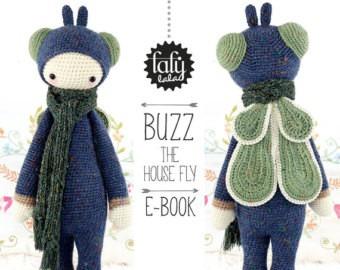 patron lalylala - mosca buzz - amigurumis - crochet español