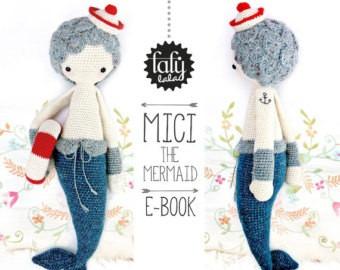 patron lalylala - sirena mici- amigurumis - crochet
