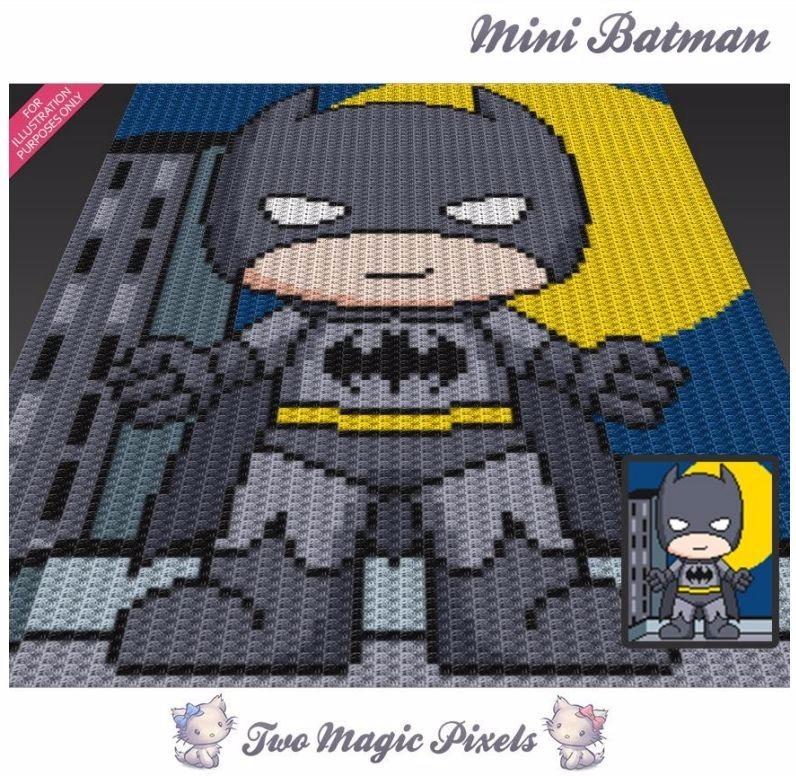 Patrón Mantas Pixeladas Crochet C2c + 1 - $ 40,00 en Mercado Libre