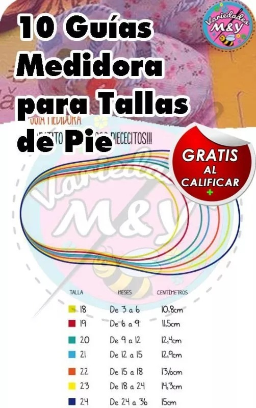Patrón Molde Zapatitos Bebés Niños Sandalias Pdf Tamaño Real ...