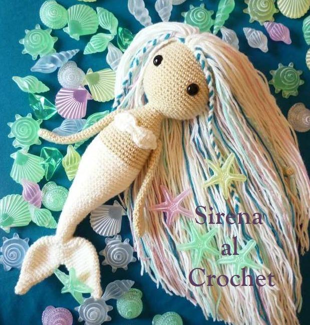 Patron Muñeca Sirena De Crochet Amigurumi Español + Regalo - $ 35,00 ...