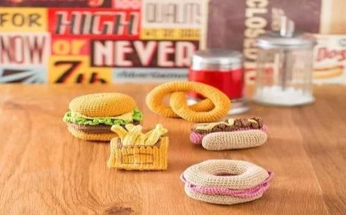patron pretzel,burger,papa,pancho,dona crochetespañol+regalo
